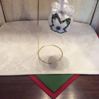 M#5 – White & Green w/ Green Button – $16.50