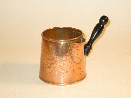 19th Century - Copper Sauce Pot w/ Wooden Handle