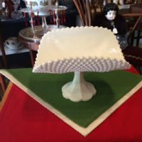 Magnificent - Vintage - White Milk Glass - Diamond Pattern Banana Boat