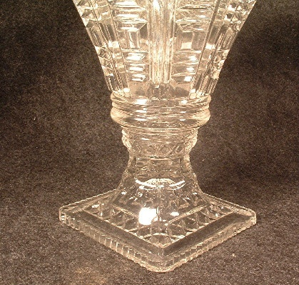 Early American Pattern Glass - Fan Vase