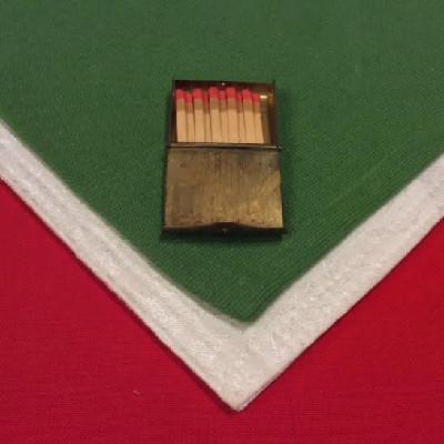 Brass - Pendant Match Book Holder - Unique Vintage