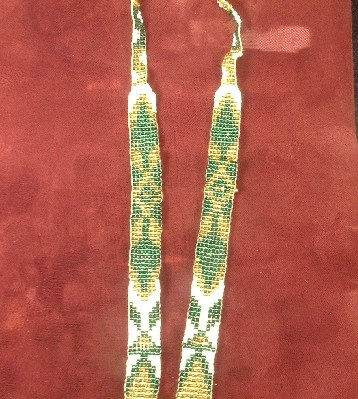 Hand Beaded Native American Necklace - Vintage Southwestern New Mexico