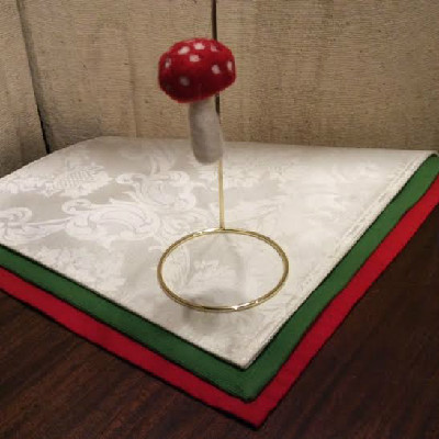 Toadstool — $12.95 - Felted Wool Ornament