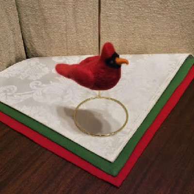 Cardinal — $25 - Felted Wool Ornament