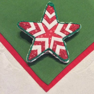 Quilted Star Tree Top Ornament