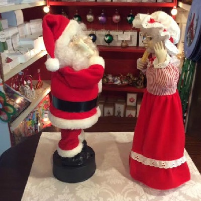 Mr. & Mrs. Santa Claus - Telco Motion-ettes - Early 1990s w/ Original Boxes