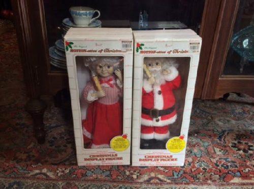 Mr. & Mrs. Santa Claus - Telco Motion-ettes - Early 1990s w/ Original Boxes