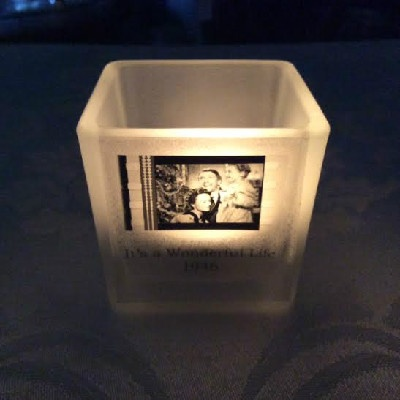 Votive Candle Holder - Unique - Actual Film - A Single Frame Of Film From A Hollywood Motion Picture