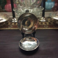 "PAIR - Judith Goldstein Polished Pewter Bowls - (5 ½"" & 6 ½"") - Renown CT Artisan"