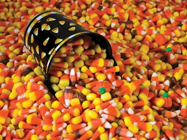 16.) – Candy Corn! – This yummy puzzle collage will challenge even veteran puzzlers. (550 pieces and measures 24? x 18?)