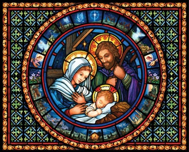5.) – Holy Family – A gorgeous stained glass rendition of the Holy Family! (1000 pieces and measures 30? x 24?)