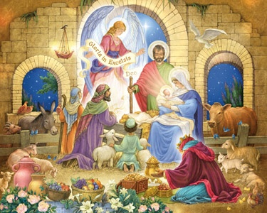 4.) – Glorious Nativity – Another Nativity masterpiece by artist Randy Wollenmann. (1000 pieces and measures 30? x 24?)