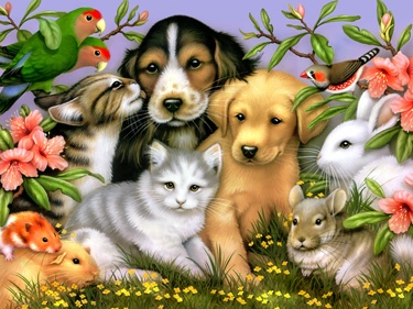 14.) – Lovable Pets – Everyone will fall in love with the adorable animals while working on this cute design! (550 pieces and measures 24? x 18?)