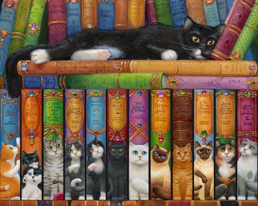 13.) – Cat Bookshelf – Did you notice the fun names on all of the books? Enjoy the intricate detail of this unique jigsaw puzzle design. Perfect for any cat lover. (1000 pieces and measures 30? x 24?)