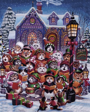 18.) – Purrfect Harmony – This fun design will get any cat lover excited for the Christmas season! Perfect for any cat lover. (1000 pieces and measures 30? x 24?)