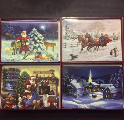 "Christmas Cards - Boxed - 4.5"" x 6.25"" When Folded"
