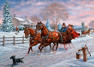 1.) - Holiday Sleigh Ride - Inside: Wishing you the simple joys of an old-fashioned Christmas. ( Richard de Wolfe)