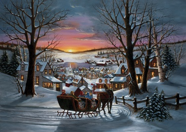 8.) - Sleigh Ride - Inside: Wishing you a good old-fashioned Merry Christmas and a Happy New Year! (H. Hargrove)