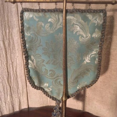 Victorian Needlework Face Screen - Heat Shield - ca.1870-1890