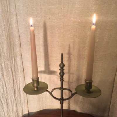 Adjustable - English - Brass Library Candlestick - Circa 1870