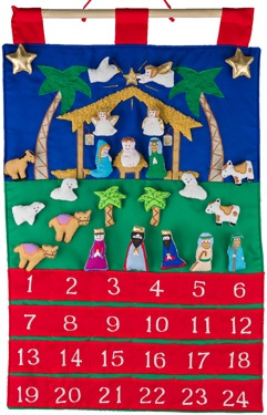 15.) — Nativity Fabric Advent Calendar ($47.95)