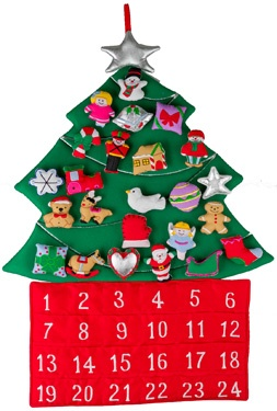 16.) — Christmas Tree Fabric Advent Calendar ($47.95)