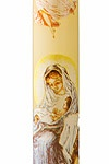 13.) — Nativity Stenciled Advent Candle ($7.95)