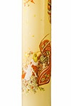 14.) — Christmas Stenciled Advent Candle ($7.95)