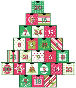 9.) — Secret Santa Treasure Box Advent Calendar ($24.95)