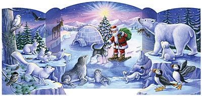 4.) — North Pole Friends Advent Calendar ($7.95)