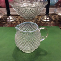 Fenton Art Glass - French Opalescent Glass - Hobnail Pattern - 32 Oz. Pitcher - Vintage - (1956-1968)