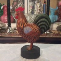 Hand Carved Rooster - American Folk Art - The McAlister Collection