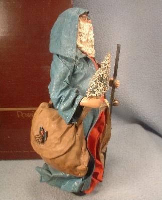 Clothtique Possible Dreams Santa Claus in Blue Robe - 1985 - Vintage