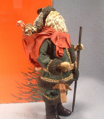 Clothtique Possible Dreams Santa Claus in Green Suit - 1988 - Vintage
