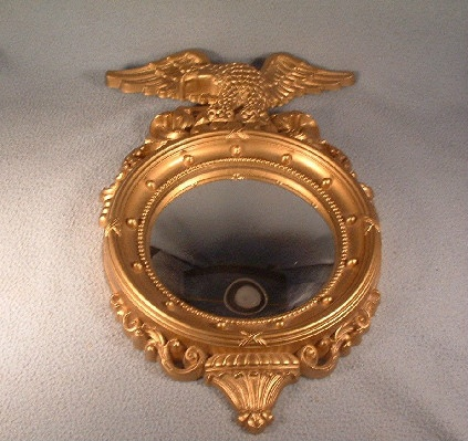 Syroco Federal Eagle Convex Bubble Mirror - Vintage