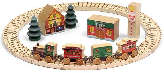 North Pole Village Railway Set - 3yo & Up - Made in Vermont!