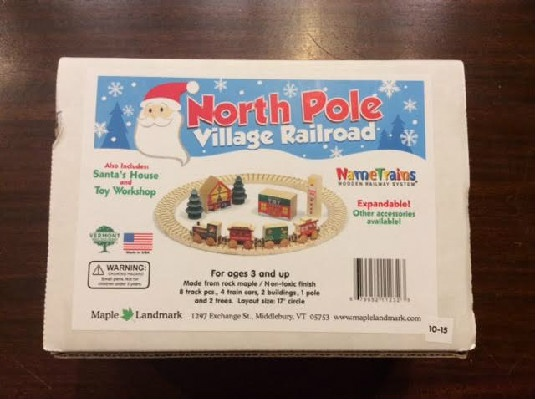 North Pole Village Railway Set - 3yo & Up - Made in Vermont!