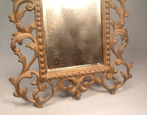 Victorian - Ornate Cast Iron - Dresser Mirror - Vintage National Bronze & Iron Works