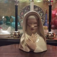 Betty Lou Renken Nichols - Madonna / Nun - Planter - 1940's
