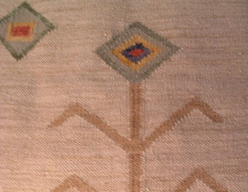 """Native American Rug - 48"""" by 30"""" - Early 20th century - Vintage - Hand Woven Wool - Southwestern"""