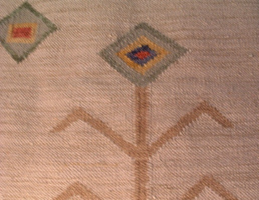 "Native American Rug - 48"" by 30"" - Early 20th century - Vintage - Hand Woven Wool - Southwestern"