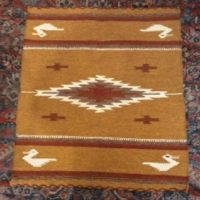 "Native American Rug - 32"" by 30"" - Early 20th century - Vintage - Hand Woven Wool - Southwestern"