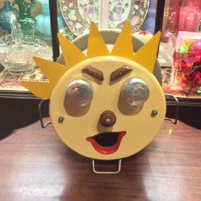 Super - Steampunk Inspired - Fabulous - Whimsical - Art Sculpture - Sun Face Bird House