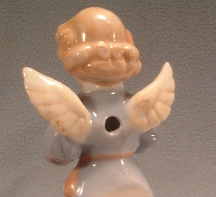 "Porcelain - Singing Angel - Holy Water Font - Vintage Unmarked ""JAPAN"""