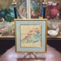Signed Childe Hassam Watercolor - Poppies - Isles of Shoals
