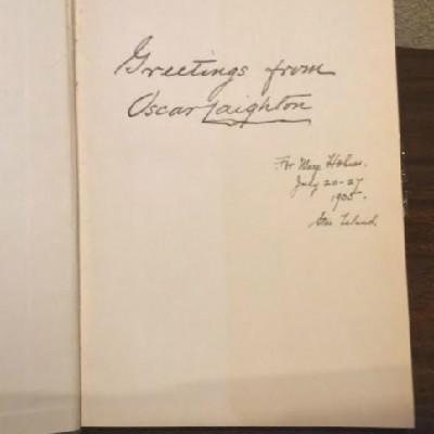 The Heavenly Guest By Celia Thaxter - Edited By Her Brother Oscar Laighton - Autographed