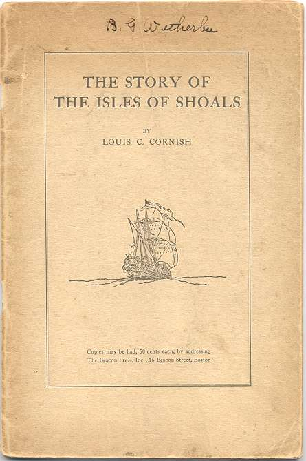 The Story of the Isles of Shoals, Cover