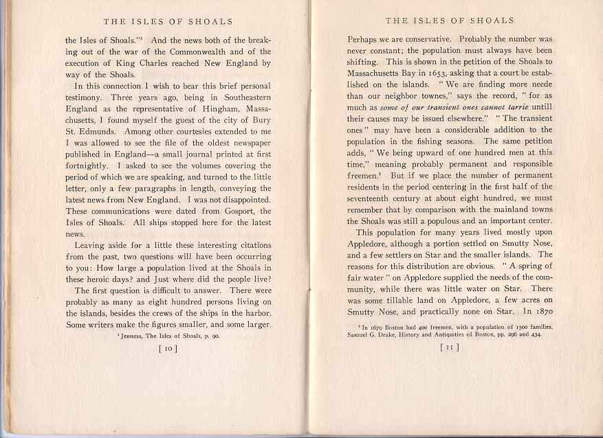 The Story of the Isles of Shoals, Pages 10-11
