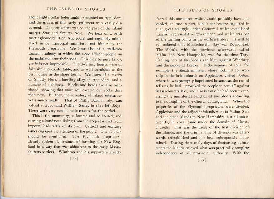 The Story of the Isles of Shoals, Pages 12-13