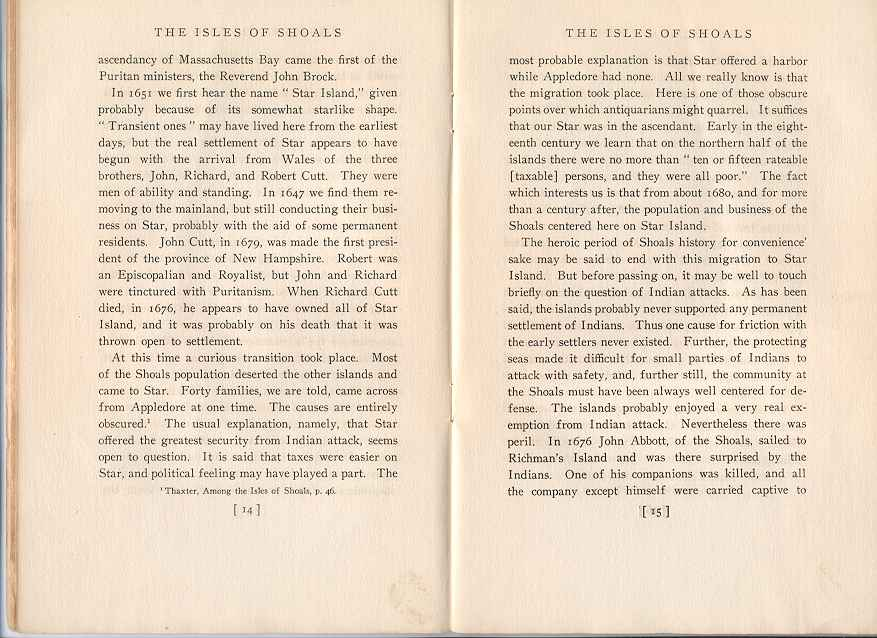 The Story of the Isles of Shoals, Pages 14-15